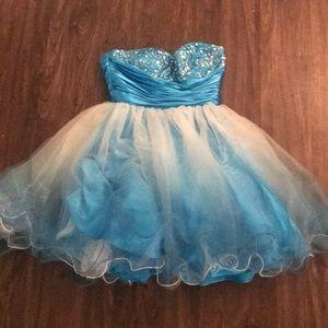 Jump Apparel Blue Ombré Formal Dress